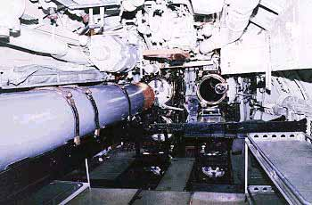 REQUIN's forward torpedo room